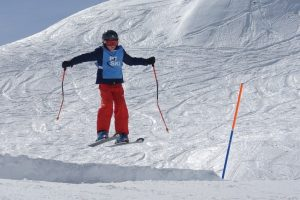 kids skiing in Klosters